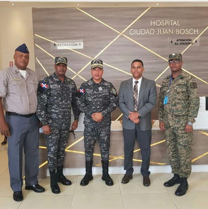 Director de Protección de Dignatarios de la PN realiza visita de apoyo al centro de salud HCJB