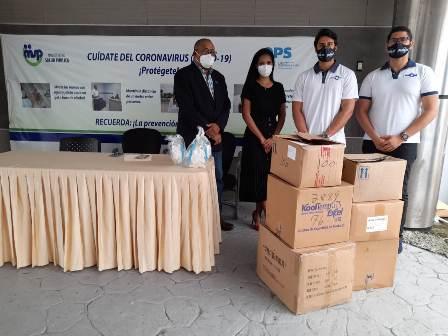 MSP recibe donativo de insumos médicos y de protección