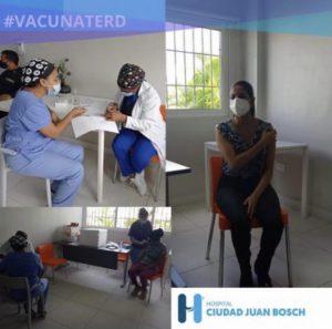 Arranca aplicación segunda dosis de vacuna contra el (Coronavirus) Covid-19 en Hospital Ciudad Juan Bosch (HCJB)